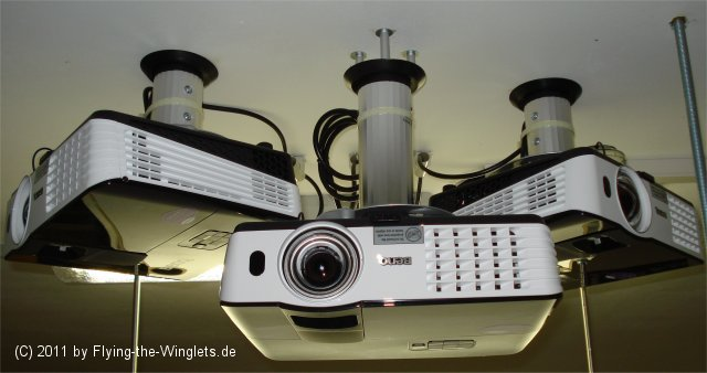 Three projector visual system setup with P3D